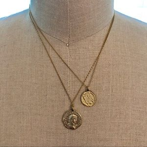 Anthropologie Layered coin necklace